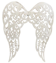 "Filigree Angel Wings: 18"" Antique Cream"