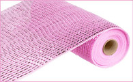 "10"" Deco Poly Mesh: Wide Metallic Foil Pink"
