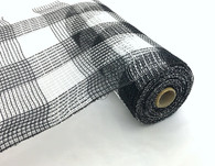 "10"" Fabric Mesh: Black/White Plaid"