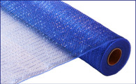 "21"" Deco Poly Mesh: Metallic Royal Blue"