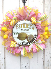 Lemon Deco Mesh Wreath