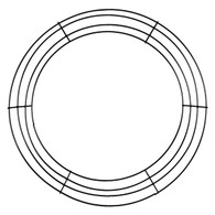 12 wire wreath frame x 4 wires - Wire Wreath Frame Wholesale