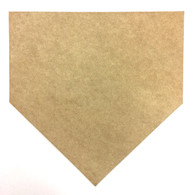 "12"" Baseball Home Plate Cutout"