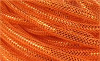 Metallic Deco Flex Tubing: Orange with Copper Foil - 8mm