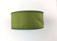 "1.5"" Solid Moss Green Satin Ribbon Wired - 10Yds"