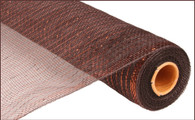 "21"" Deco Poly Mesh: Metallic Chocolate/Copper Foil"