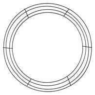 "18"" Wire Wreath Frame x 4 Wires"