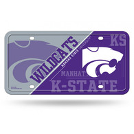 Kansas State Wildcats Deluxe Novelty License Plate