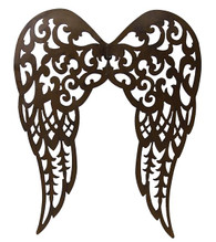 "Filigree Angel Wings: 18"" Antique Rust"