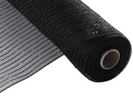 "NEW 10"" Deco Poly Mesh: Metallic Black Wider Foil"