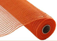 "NEW 10"" Deco Poly Mesh: Metallic Orange Wider Foil"