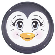 "12"" Metal Penguin Face"