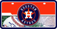 Houston Astros MLB Half/Half License Plate