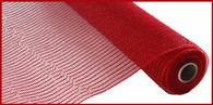 "NEW 21"" Deco Poly Mesh: Metallic Red Wider Foil"