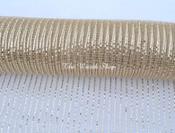 "10"" Decor Mesh: Metallic Champagne - Thin"