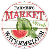 "12"" Farmer's Market Fresh Watermelons Sign"