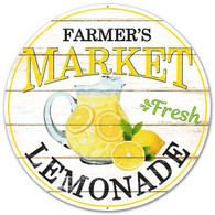 "12"" Farmer's Market Fresh Lemonade Sign"