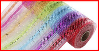 "10"" Deco Poly Mesh: Fiesta Multi Stripe"