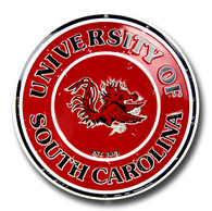 South Carolina Embossed Metal Circular Sign