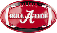 University of Alabama Crimson Tide Embossed Metal Oval License Plate