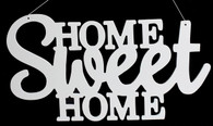 "15"" Home Sweet Home Sign: White"