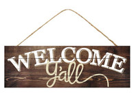 "15"" Rustic Welcome Y'all Sign"