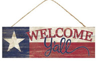 "15"" Texas Flag Welcome Y'all Sign"