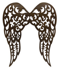 "24"" Filigree Angel Wings: Antique Rust"