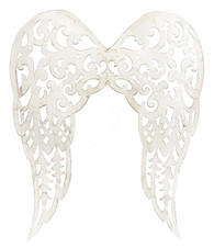 "24"" Filigree Angel Wings: Antique Cream"