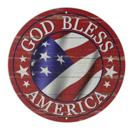 "12"" God Bless America Sign: Red"
