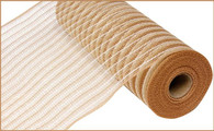 "10.5"" Poly Faux Jute Mesh: Natural/Cream"