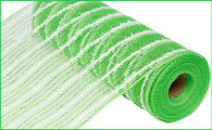 "10.5"" Metallic Cotton Drift Mesh: Lime Green (10 Yards)"