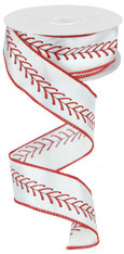 "1.5"" Baseball Stitching Ribbon - 10Yd"