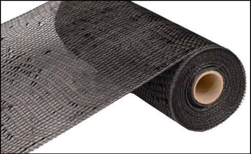 "Metallic Black with Wide Black Foil - 10"" x 10Yd (RE134102)"
