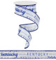 "Kentucky White and Blue - Wired 1.5"" x 10Yds (Copy of RG1031)"