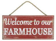 "12.5"" Welcome to Our Farmhouse Sign"