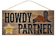 "12.5"" Howdy Partner Sign"
