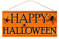 "12.5"" Happy Halloween Spider Sign"