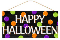 "12.5"" Happy Halloween Polka Dot Sign"