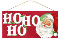 "12.5"" Ho Ho Ho Santa Face Sign"
