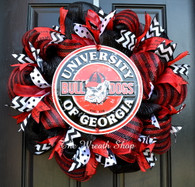 University of Georgia Bulldog Wreath