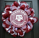 Mesh Texas A&M Wreath - Circular Sign