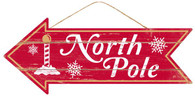 "16"" North Pole Arrow Sign"