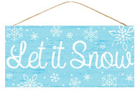 "12.5"" Let It Snow Sign: Lt Blue"