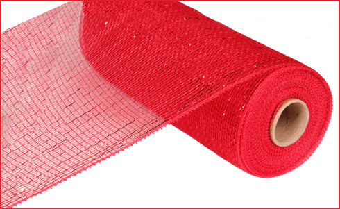 "Metallic Red with Red Foil - 10"" x 10Yd (RE130124)"