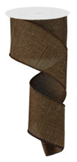 "Brown Royal Faux Burlap Ribbon - 2.5"" x 10Yd (RG127904)"