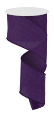 "Purple Royal Faux Burlap Ribbon - 2.5"" x 10Yd (RG127923)"