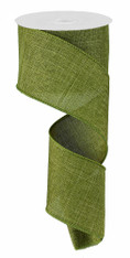 "Moss Green Royal Faux Burlap Ribbon - 2.5"" x 10Yd (RG127952)"