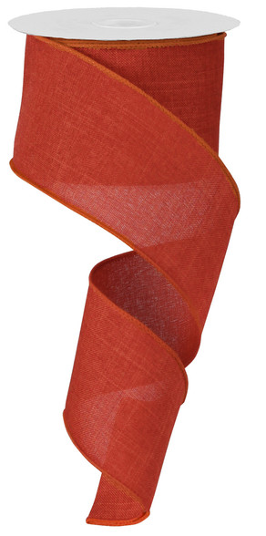 "Rust Royal Faux Burlap Ribbon - 2.5"" x 10Yd (RG127974)"