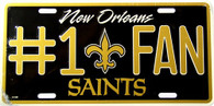 New Orleans Saints #1 Fan NFL Embossed Metal License Plate (LP-714)